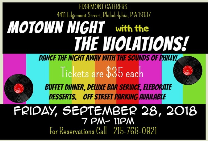 Motown, Edgemont Caterers, Philadelphia, Music, Dinner Show